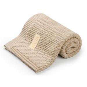 baba takaró kötött pamutból homok színben