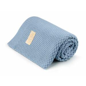 merino gyapju baba takaró babakék színben