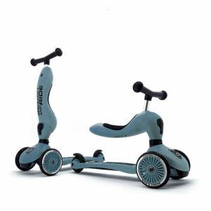 Scoot and ride highwaykick acélkék kismotor és roller egyben