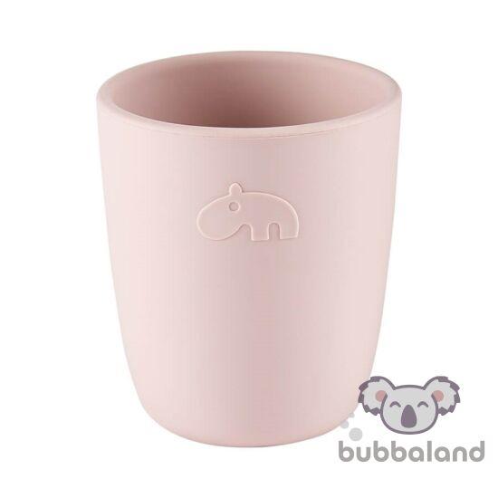 szilikon kispohár babáknak púder rózsaszín Done by Deer