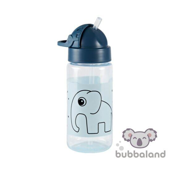 Kék csöpögésmentes szívószálas itatópohár babáknak Done by Deer Elphee az elefánt mintával