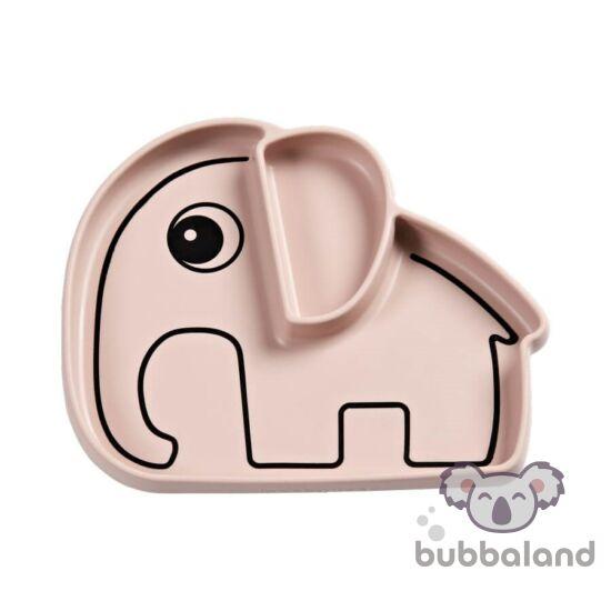 Elphee szilikon tapadós tányér babáknak púder rózsaszín színbenDone by Deer