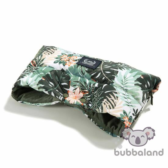 meleg téli Babakocsi bunda kesztyű khaki zöld színben dzsungeles mintákkal