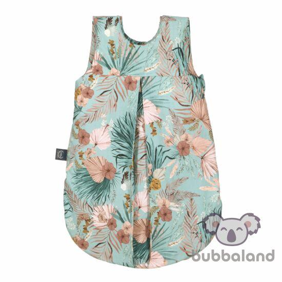baba hálózsák 0-9 hónapig kék rózsaszín trópusi pálmalevél mintás Boho Palms La Millou