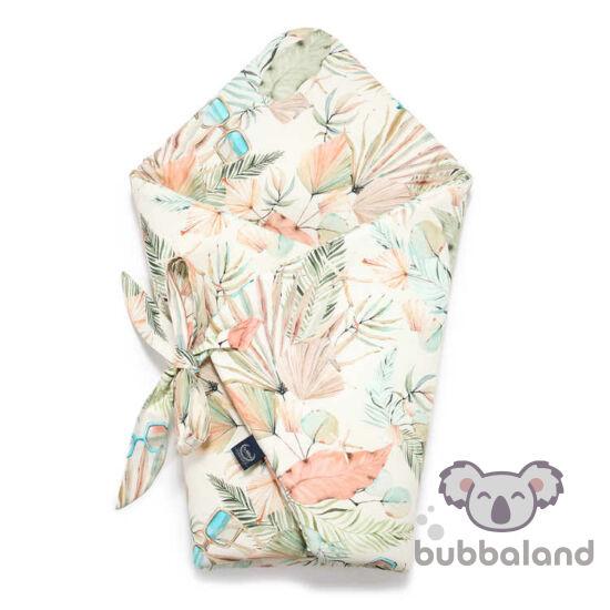 baba pólya menta rózsaszín trópusi pálmalevél mintával kislányoknak Boho Girl