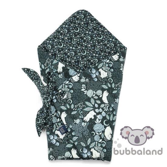 baba pólya fekete alapon menta színű téli jegesmedve mintával La Millou White Magic