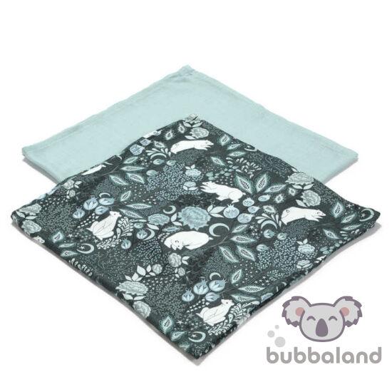 2 darabos textil pelenka bambuszból téli jegesmedve mintával La Millou White Magic