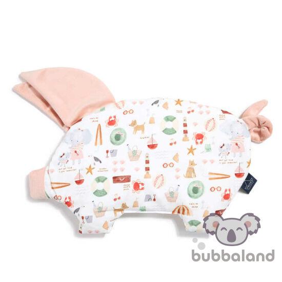 lapos baba párna röfi alakú púder rózsaszín velvet tengerparti mintával French Riviera Girl