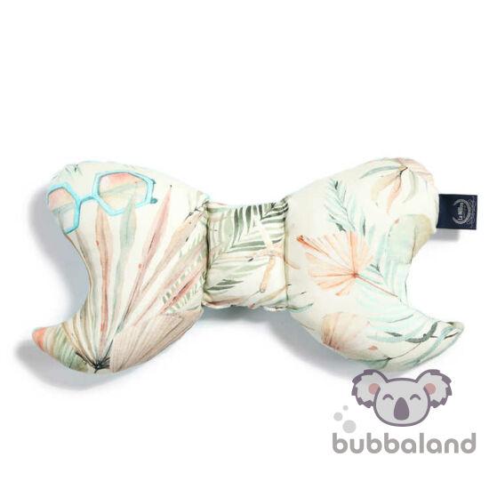 pillangópárna velvet bársony anyagból menta és rózsaszín pálmaleveles boho Girl