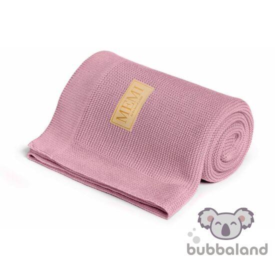 bambusz pamut baba takaró vintage rózsaszín színben