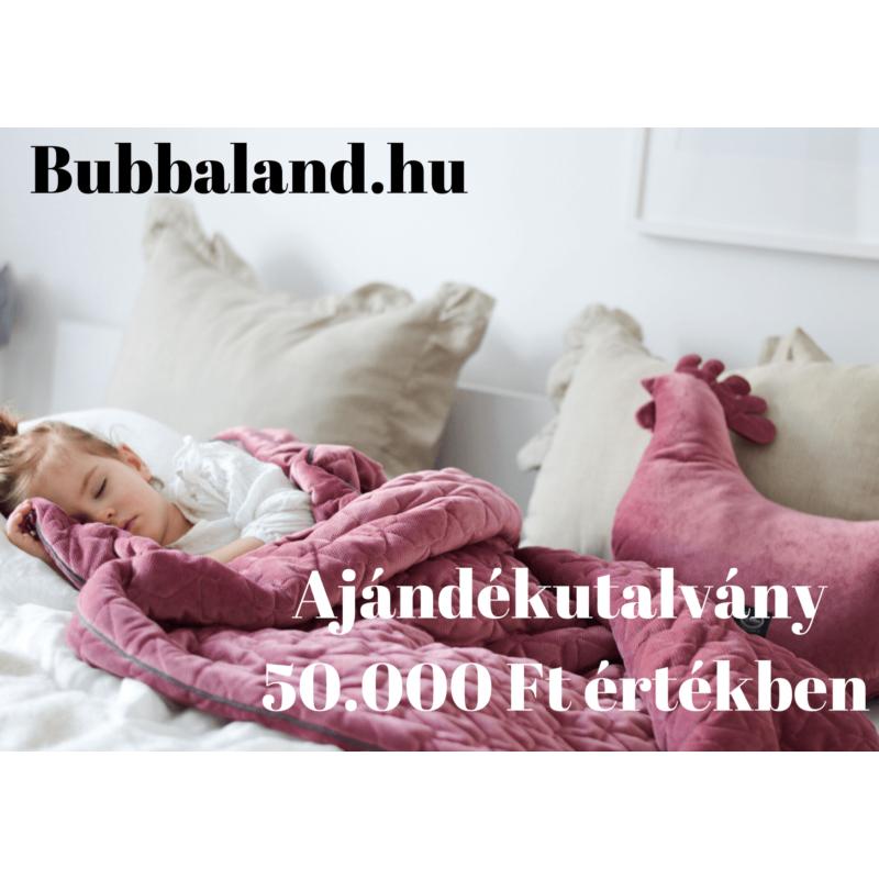 Bubbaland ajándékutalvány : 50.000 Ft