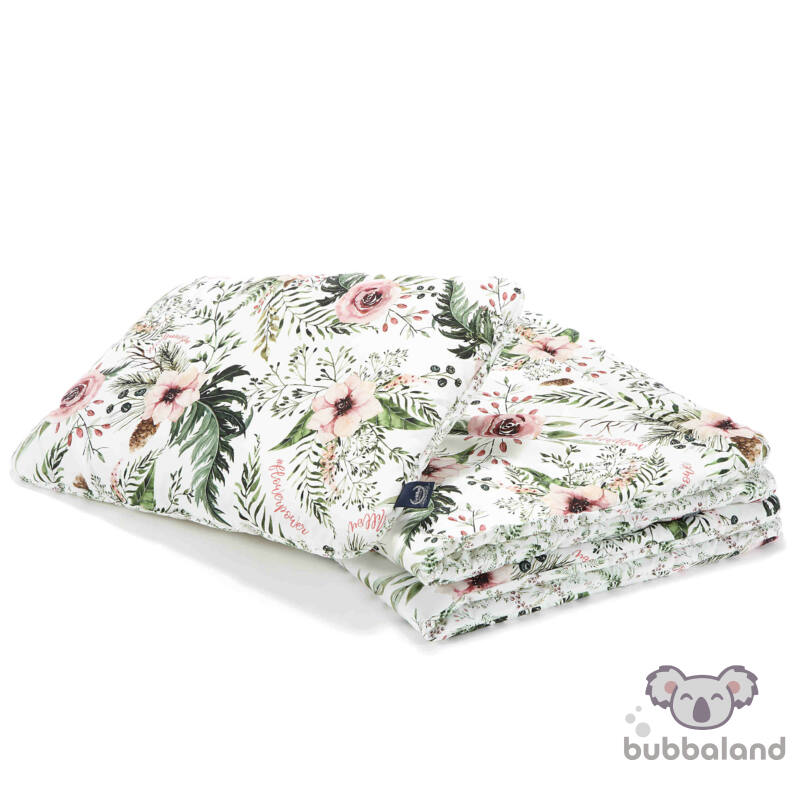 óvodás ovis ágynemű szett töltettel és kispárnával vadvirágos mintával