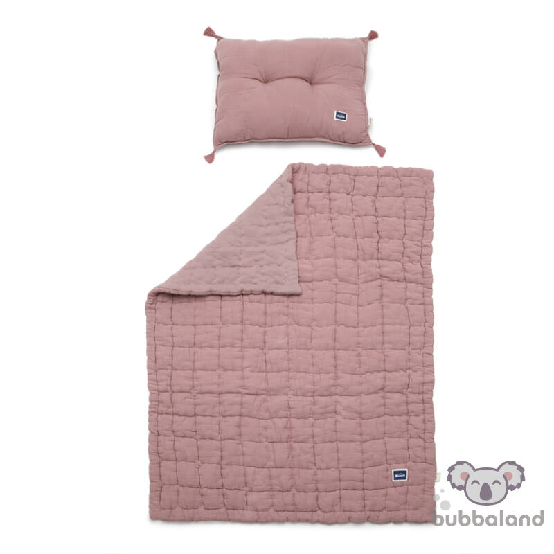 ovis ágynemű szett töltettel és kispárnával muszlin anyagból levendula színben