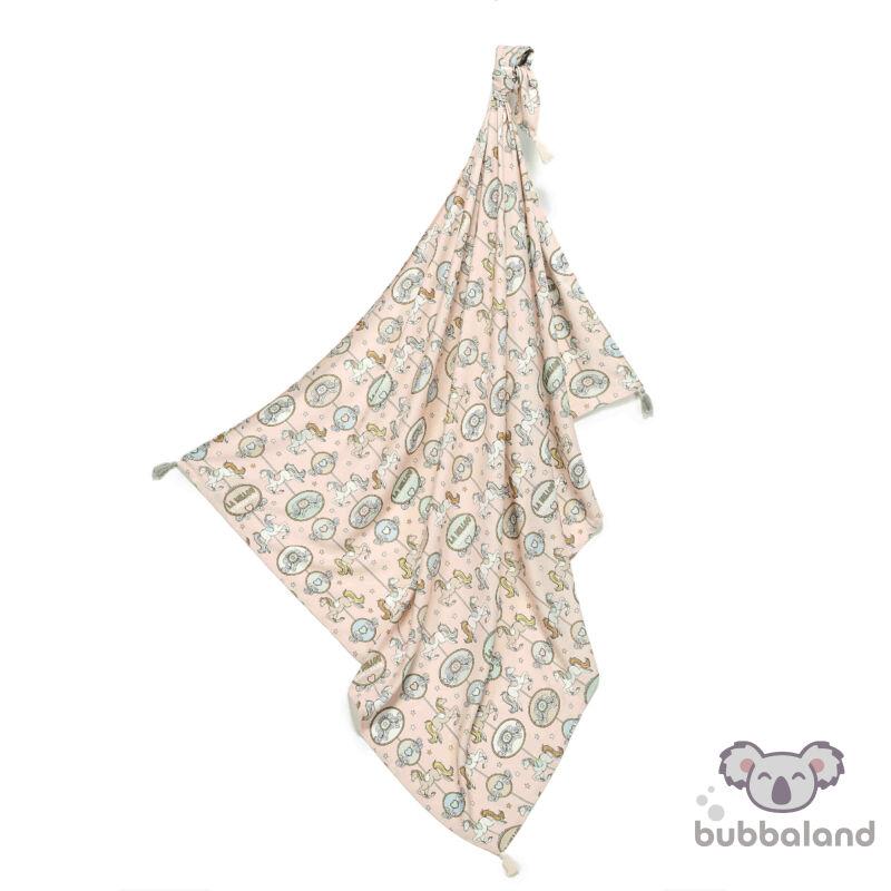 bambusz baba takaró vékony nyári rózsaszin körhinta dream lunapark