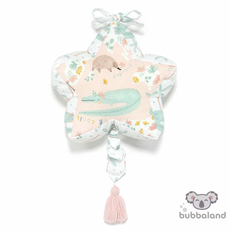 felhúzható zenélő játék babáknak rózsaszín krokodil Dundee and Friends Blue