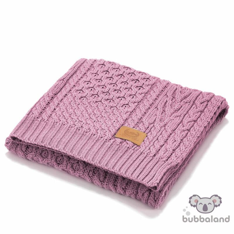 merinó gyapjú baba takaró mályva színben