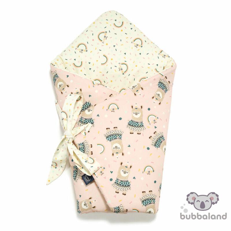 baba pólya szívárványos mintával rózsaszín