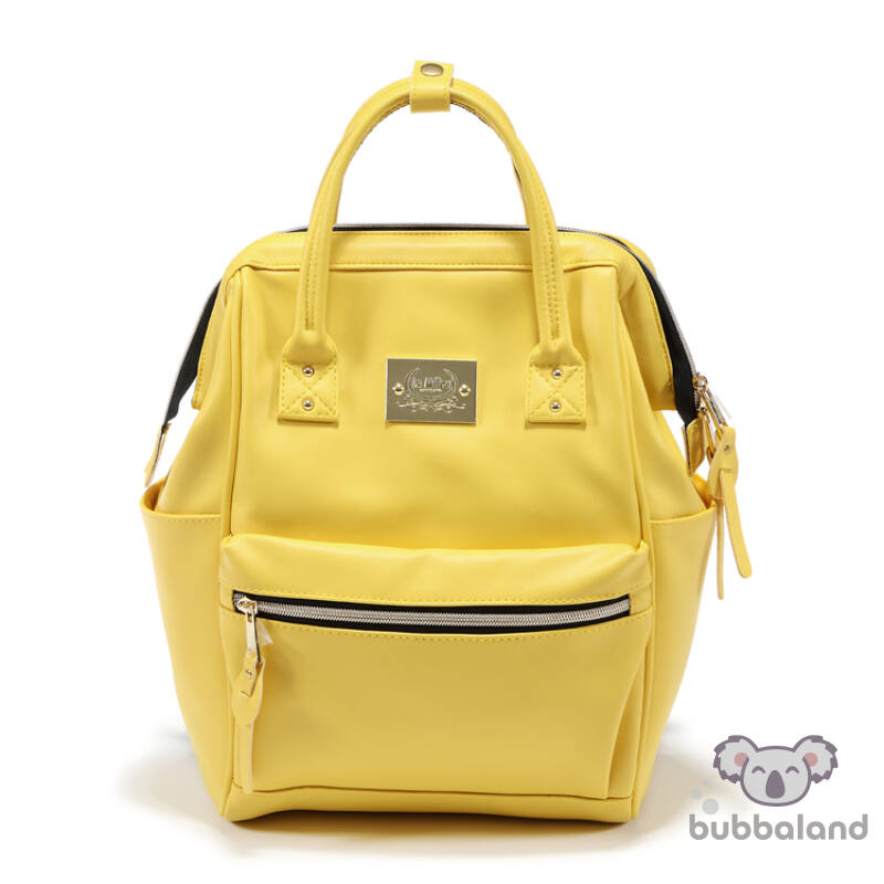 dolce vita pelenkázó hátizsák sárga színben