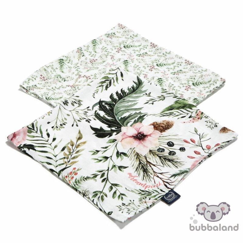 2 darabos textil pelenka bambuszból vadvirágos mintával Wild Blossom