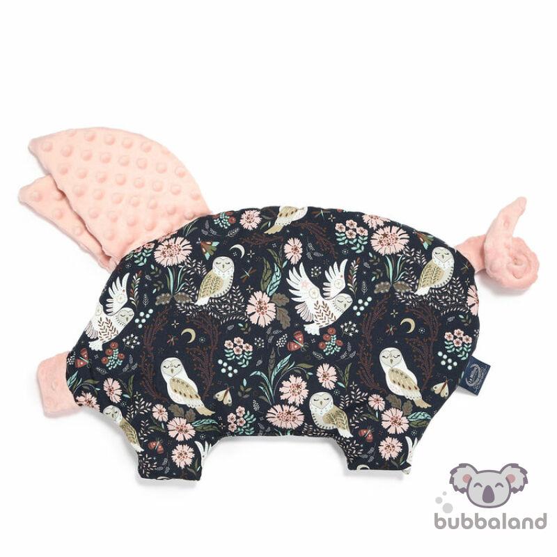 lapos baba párna röfi alakú sötét bagoly mintával