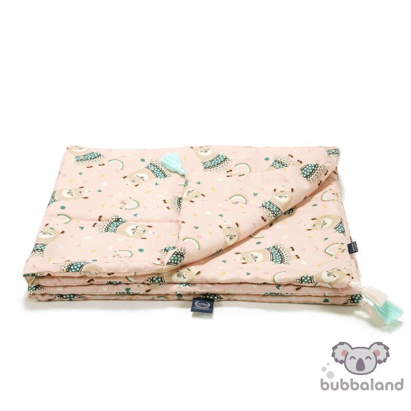 bambusz baba takaró töltettel rózsaszin szivárvány láma rainbow baby