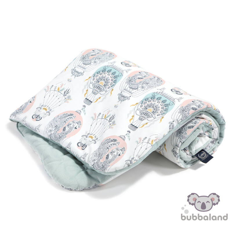 baba takaró töltettel pamut velvet baba hamvas menta hőlégballon cappadocia dream