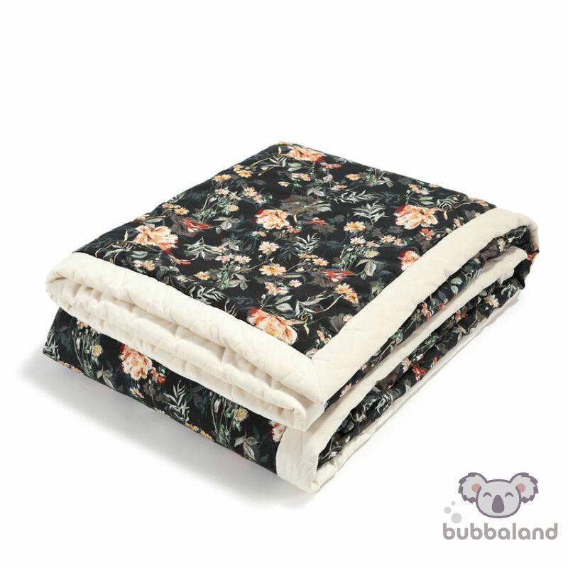 baba takaró velvet és pamut anyagból rafaello vintage virág mintával