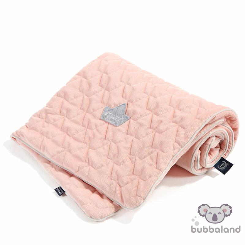 baba takaró velvet anyagból púder rózsaszín színben