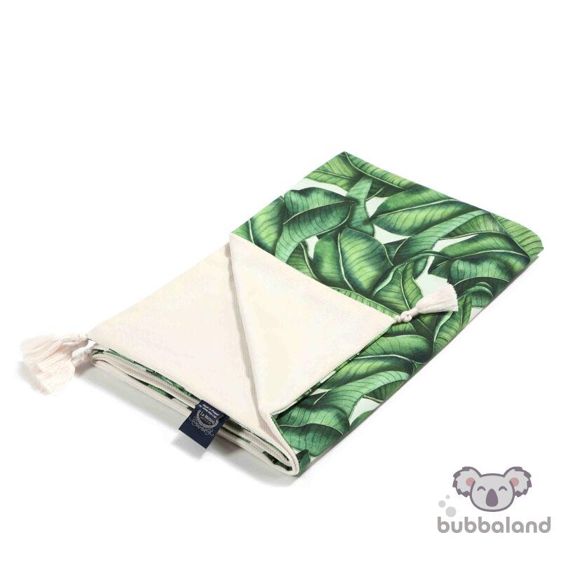 tavaszi nyári baba takaró töltet nélkül velvet rafaello zöld banán leveles mintával Banana Leaves