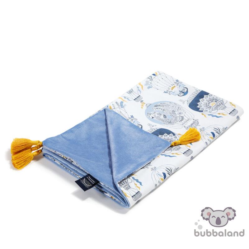 baba takaró töltet nélkül tavaszi nyári kétoldalas pamut velvet galamb kék hőlégballon cappadocia sky