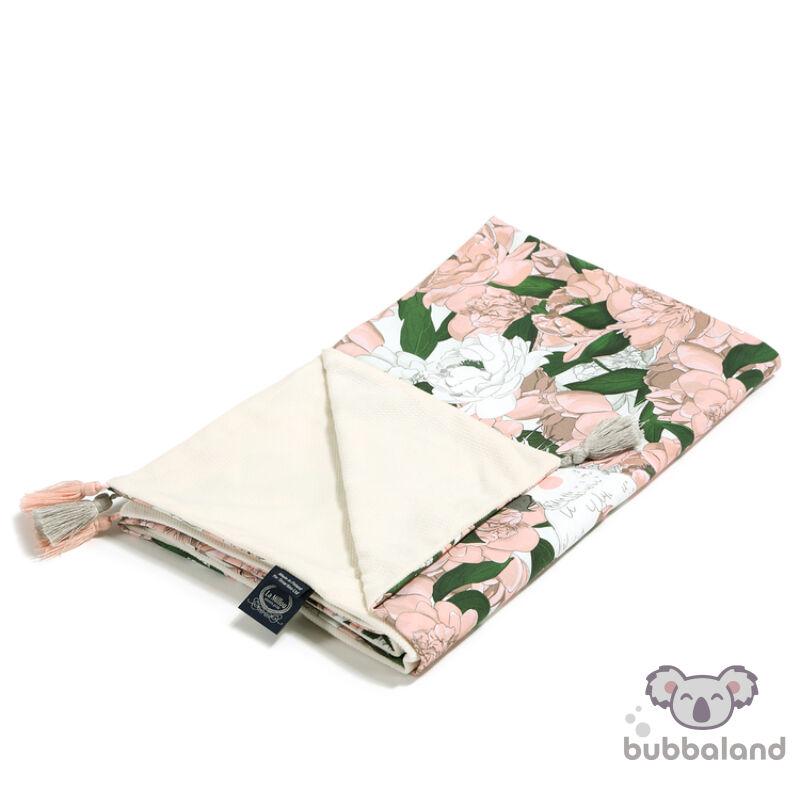 baba takaró töltet nélkül tavaszi nyári kétoldalas pamut velvet rafaello bazsarozsa lady peony