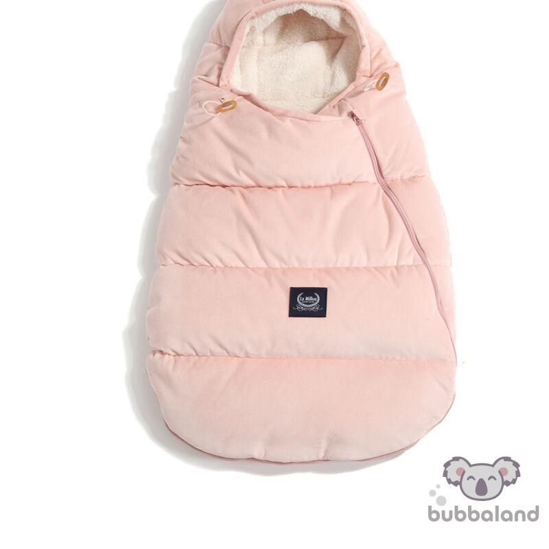 bundazsák bébi méretben 0-1 éves korig púder rózsaszín színben