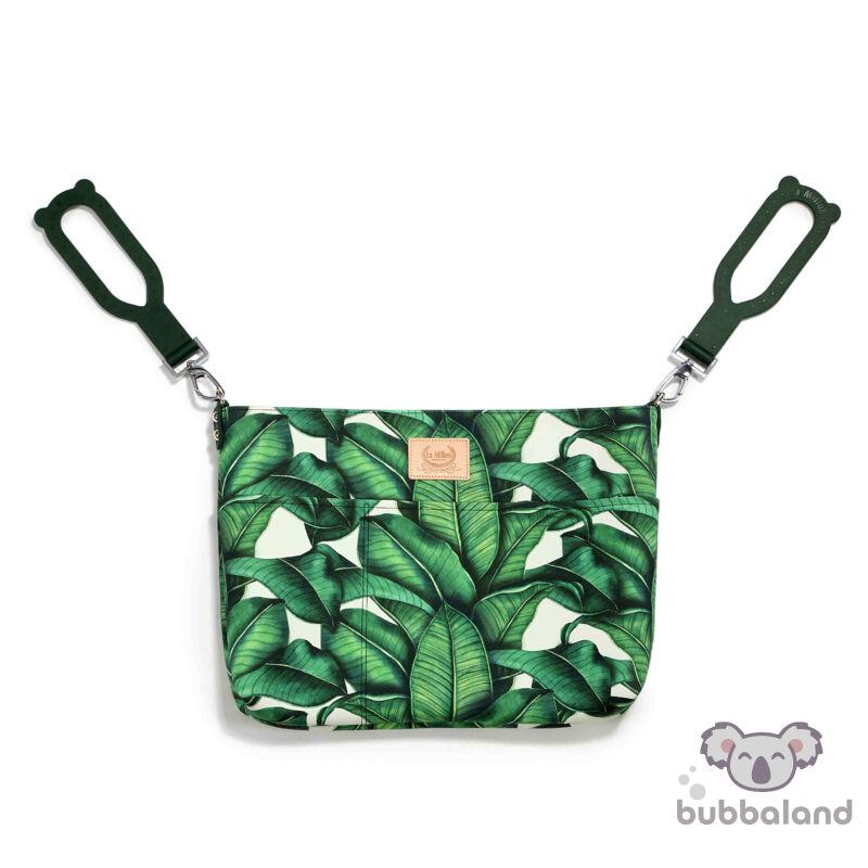 kis méretű pelenkázó táska zöld banán levelek Banana Leaves