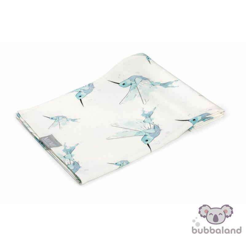 100% bambusz takaró kolibri mintával