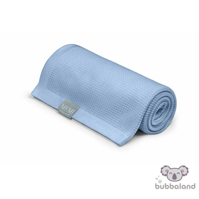 baba takaró eukaliptusz kötött vékony tavaszi nyári baba kék