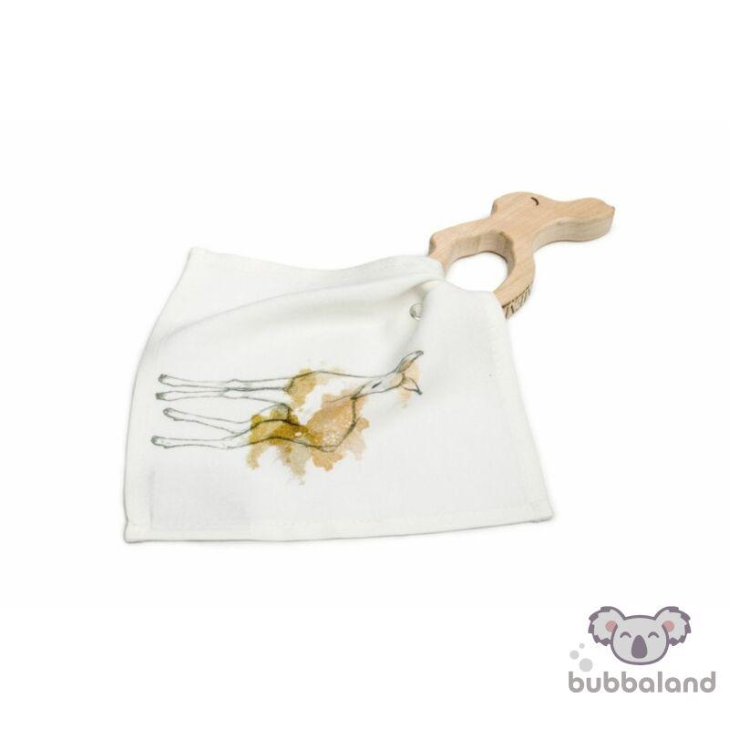 fa rágóka bambi mintás textil nyálkendővel