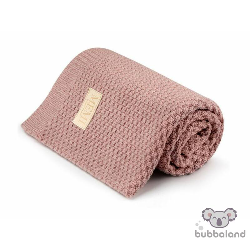 merino gyapju baba takaró púder rózsaszín színben