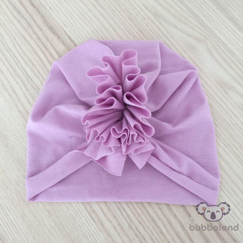 Tavaszi nyári turbán sapka rózsaszín XS méret