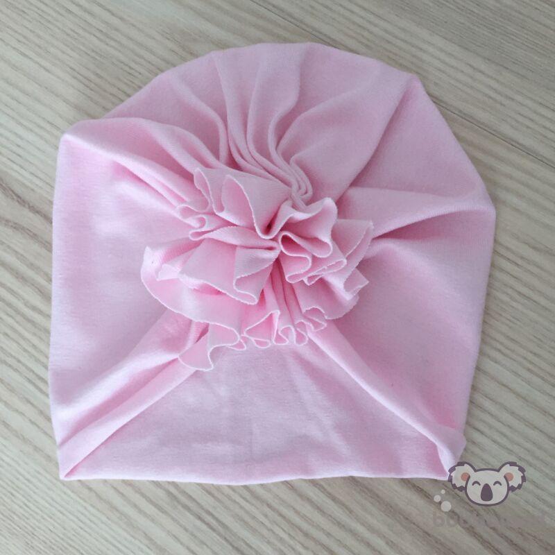 Tavaszi nyári turbán sapka rózsaszín méret