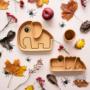 Kép 2/6 - mustársárga szilikon tapadós tányér gyerekeknek Done by Deer Friends